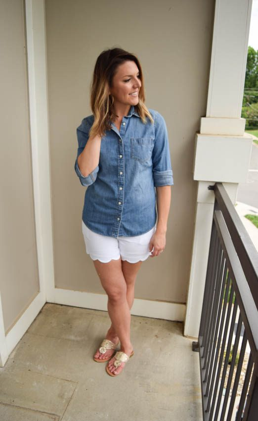 Scallop Shorts Part 2: Chambray All Day