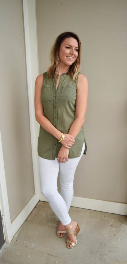 White Jeans Part 2: Olive + Gold