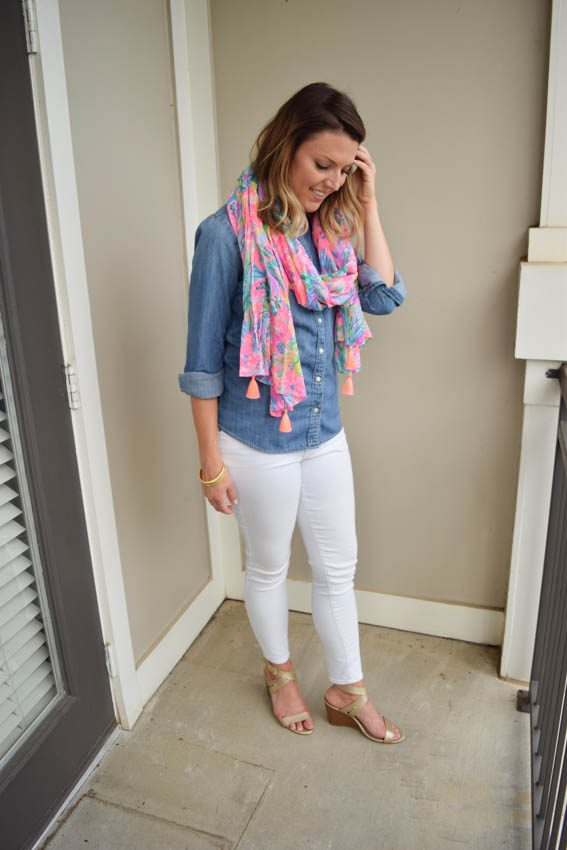 White Jeans Part 4: Chambray and White