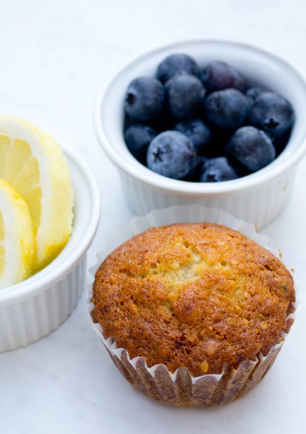 Lemon Hemp Blueberry Muffins